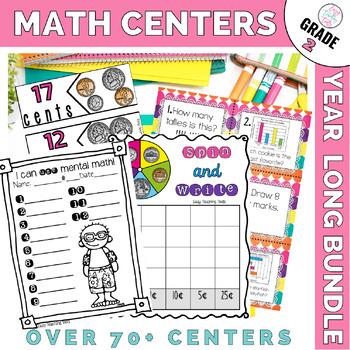 2nd grade GROWING Math Bundle {35+ Centers}