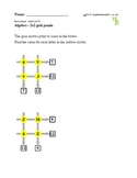 2x2 Grid puzzles to practice arithmetic and algebra
