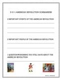 3-2-1 American Revolution Summarizer