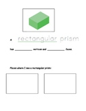 3-D Shapes Booklet