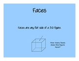 3-D Shapes (Faces, Edges, Vertices) PowerPoint