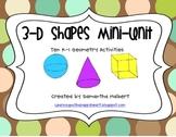 3-D Shapes Mini-Unit, Ten K-1 Geometry Activities