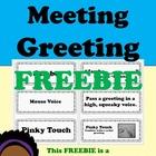 3 FREE Morning Meeting Greeting Cards