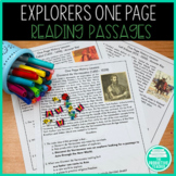 3 Minute History Lessons: Explorers (Reading Passages and