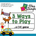 3 Ways to Play:  CVC Game!