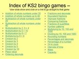 30 games Maths Bingo