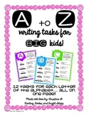 312 Write About It A to Z Writing Center Tasks for Big Kid