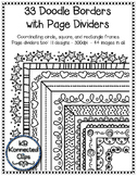 33 Black Line Doodle Frames with Coordinating Page Dividers