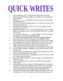 331 Quick Writes Ideas