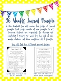 36 Weekly Journal Prompts