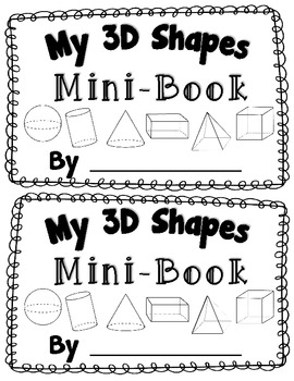 3D Shape Activity {My 3D Shapes Mini-Book} {Common Core Aligned 3D Shape Fun}