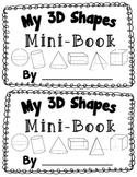 3D Shape Activity {My 3D Shapes Mini-Book} {Common Core Al