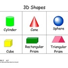 3D Shapes Poster Cone Cylinder Prisms Sphere
