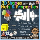 3D Shapes with their Nets and Properties