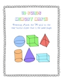 3D Solids Memory Match