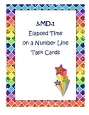 3.MD.1 Elapsed Time on a Number Line Task Cards
