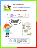 3rd Grade Area and Perimeter Math Journal Resources