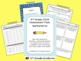 3rd Grade CCSS Assessment Pack:  Mathematics