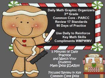 3rd Grade Common Core Daily Math Graphic Organizers - Mast