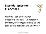 3rd Grade Common Core ELA Essential Questions for Posting