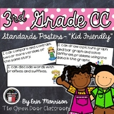 "3rd Grade Common Core ""Kid Friendly"" Posters- Language Arts"