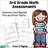 3rd Grade Common Core Math Assessments {Pre and Post Tests}