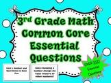 3rd Grade Common Core Math Essential Questions