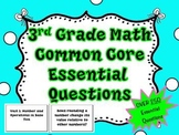 3rd Grade Common Core Math Essential Questions