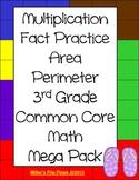 3rd Grade Common Core Math Multiplication Area Perimeter A