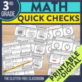 3rd Grade Common Core Math Quick Checks {Easy Assessment i
