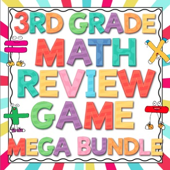 3rd Grade Common Core Math Review Game Mega Bundle (All Domains and Standards)