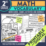 3rd Grade Common Core Math Vocabulary Packet: Journal, Gam