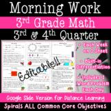 3rd Grade Daily Math Morning Work 3rd and 4th quarter prac