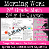 3rd Grade Morning Work - 3rd and 4th quarter