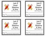 3rd Grade Everyday Math: Unit 3 Linear Measures & Area Stu