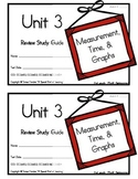 3rd Grade Expressions Math: Unit 3 Review Study Guide- Mea