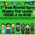 3rd Grade Historical Figures Mapping Their Location Intera