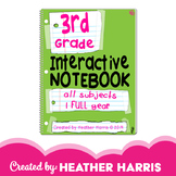 3rd Grade Interactive Notebook: ALL Subjects, FULL Year
