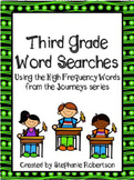 3rd Grade Word Searches with Target Vocabular from the 201
