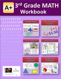 3rd Grade MATH Workbook (Worksheets, Exams and Answer Keys)
