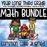 3rd Grade Math Year Long MEGA BUNDLE - Activities, Games, Centers