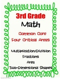 3rd Grade Math - Multiplication/Division, Fractions, Area,