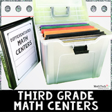 3rd Grade Math Task Cards & Games - BUNDLE Sets 1-5