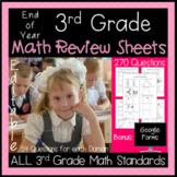 3rd Grade Math Test Prep - Review All Math Standards Asses