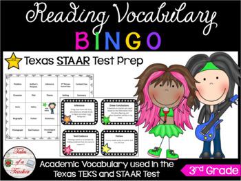 3rd Grade Rock-STAAR BINGO Reading Vocabulary Review