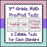Standards Based Assessments - Math for 3rd grade with Pre