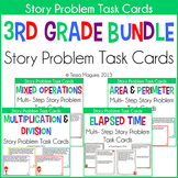 3rd Grade Story Problems Task Cards Bundle