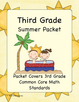 3rd Grade Summer Math Workbook- Common Core Aligned- Top Selling Product!
