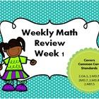 Weekly Math Spiral Review - Week 1