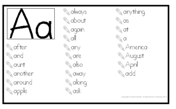 3rd grade Word Wall Posters